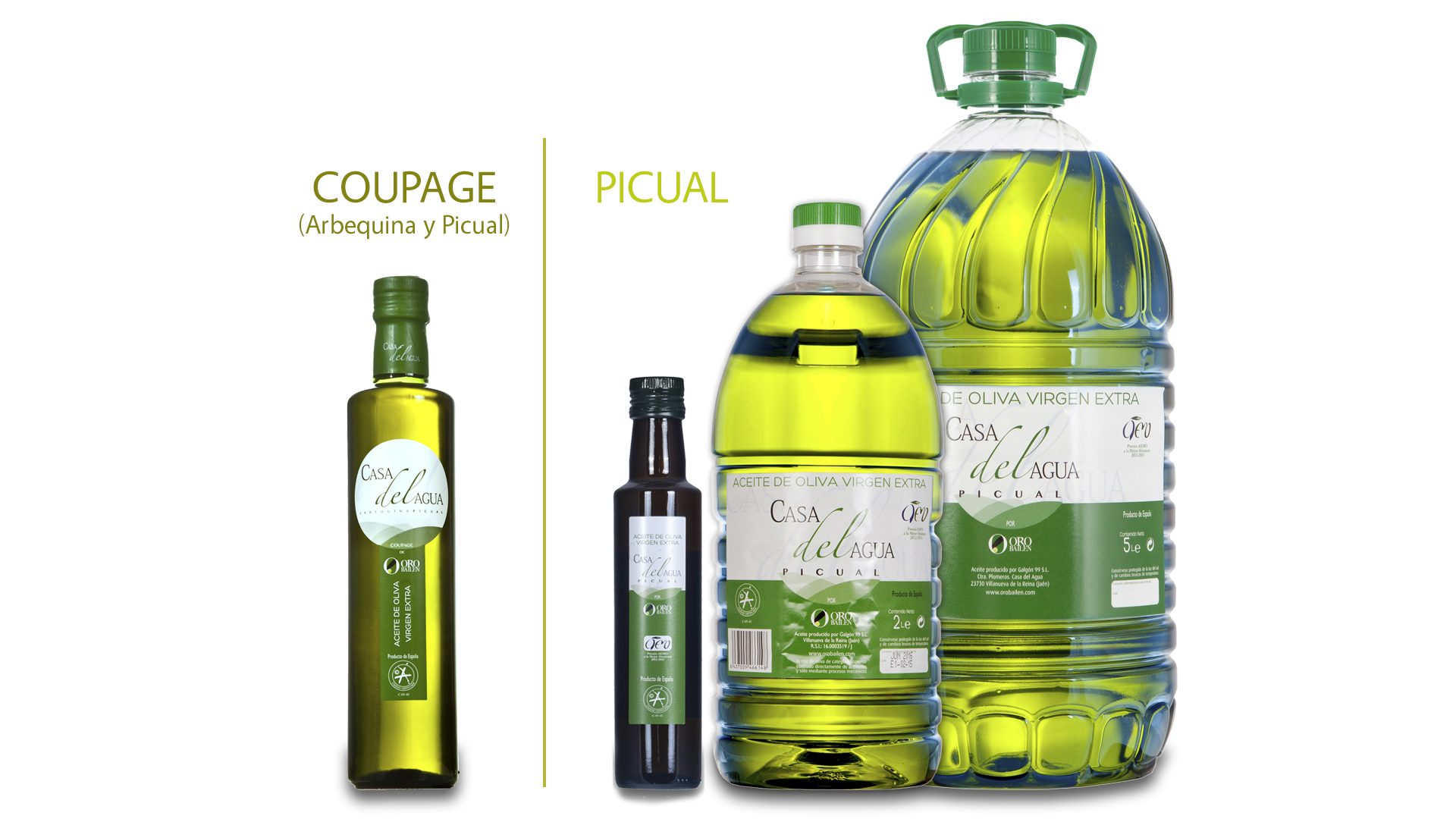 Casa del Agua - Coupage Oro Bailén botella de cristal 500ml